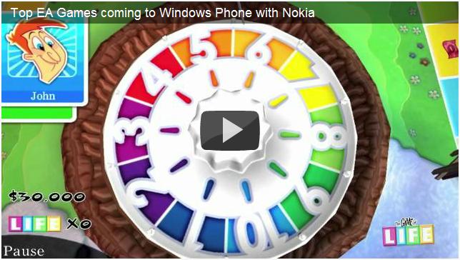 Nokia und EA bringen 27 exklusive Spiele für Windows Phone