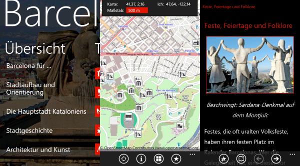 Apptest: Barcelona Reiseführer