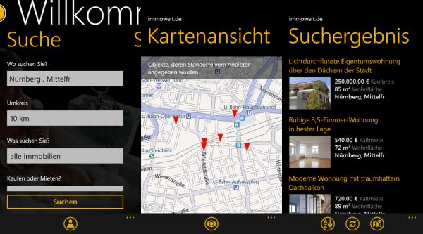 Unterwegs das neue Zuhause finden mit der ImmoWelt App