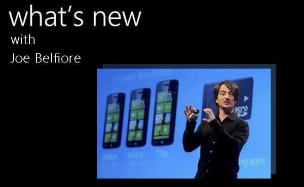 Windows Phone Chef-Designer Joe Belfiore wirbt für WP 8