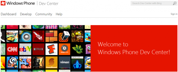 Neues Windows Phone Developer Center