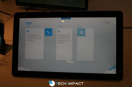 Skype Windows 8 App Preview auf der IFA 2012