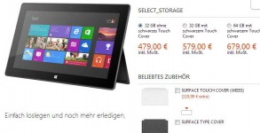 Microsoft Store Germany Online Store - Surface mit Windows RT