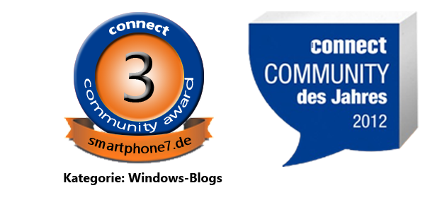 Platz 3 beim Connect Community Award 2012
