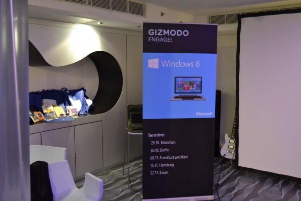 Das Gizmodo Engage! Windows 8 Event in Berlin