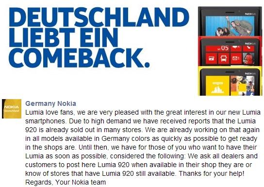 Lumia 920 erfreut sich hoher Beliebtheit