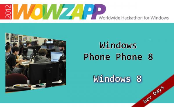 WOWZAPP 2012: Windows (Phone) 8 App Entwicklung