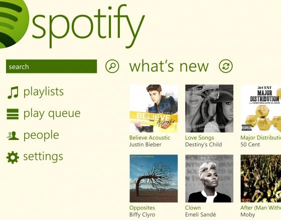 Spotify nun auch für Windows Phone 8