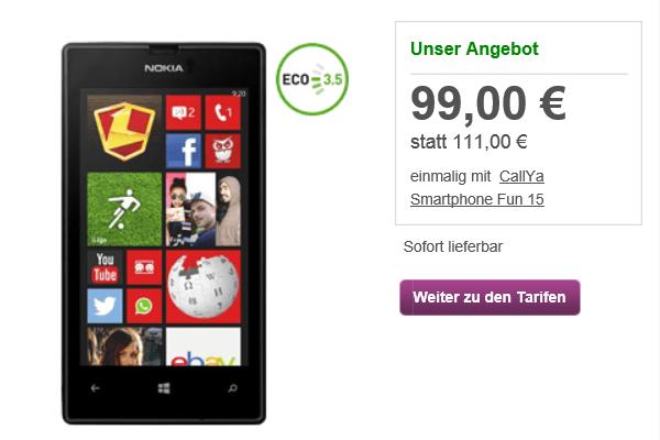 Nokia Lumia 520 für unter 100 Euro