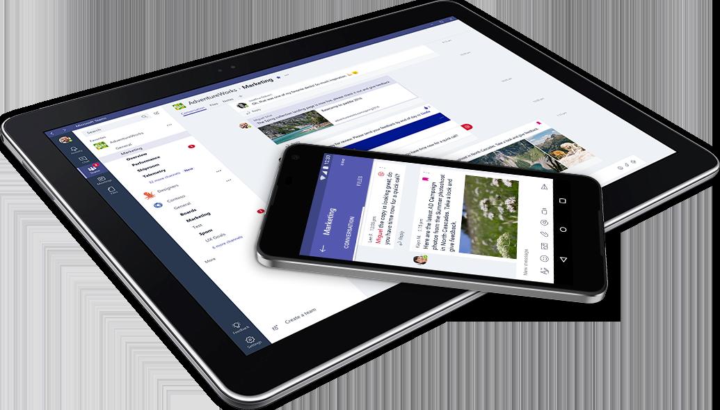 Microsoft Teams - Auf Tablets und Smartphones