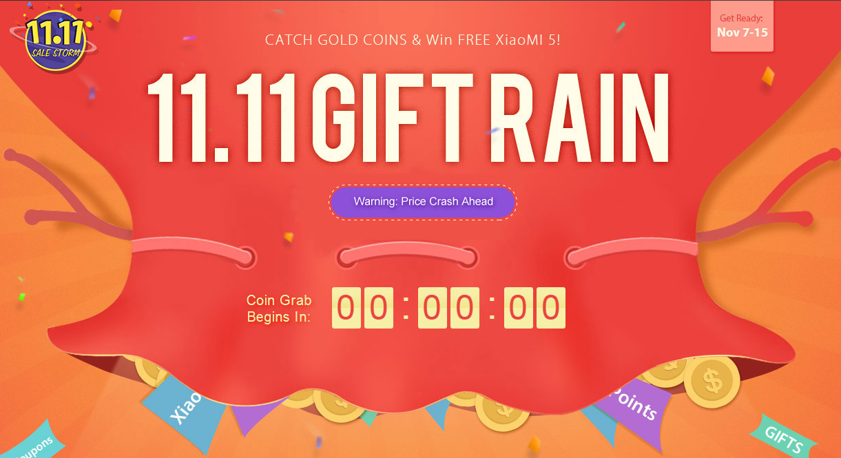 Gearbest Sale Storm – Gift Rain ab 7. November